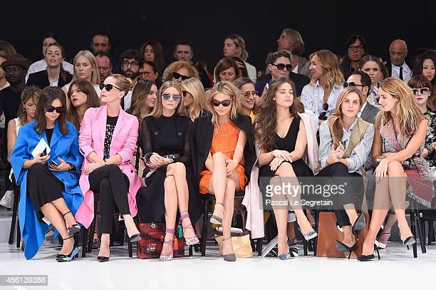 Miroslava Duma, Lucie de la Falaise, Olivia Palermo, Camille Rowe, Esther Garrel, Gaia Repossi and Alexia Niedzielski attend the Christian Dior show...