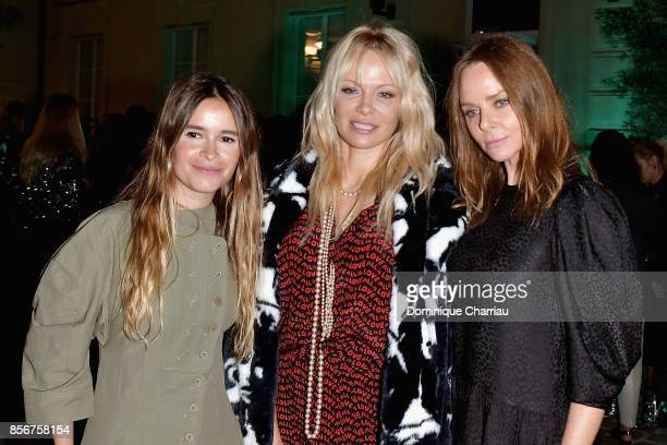 Miroslava Duma Pamela Anderson and Stella McCartney at the Fashion Tech Lab Launch Event Hosted By Miroslova Duma And Stella McCartney as part of...