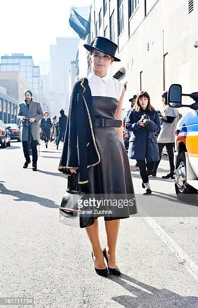 Miroslava Duma seen outside the Ralph Lauren show on February 14 2013 in New York City