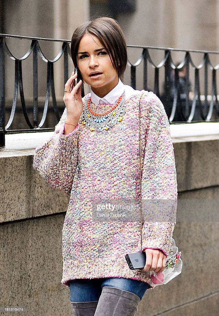 Miroslava Duma seen outside the Theyskens Theory show on February 11, 2013 in New York City.