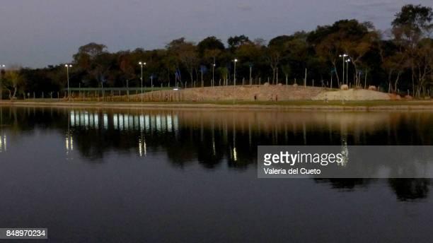 mirron in lagoon - sem fim... valéria del cueto stock pictures, royalty-free photos & images