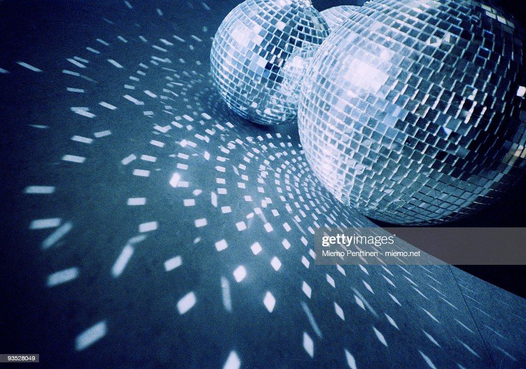 Mirror balls on the floor : Stock Photo