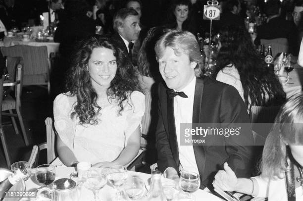 Mirror British Music Video Awards London Tuesday 6th October 1987 pictured Koo Stark and David Jensen Koo Stark is presenting one of the awards this...