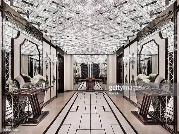 Mirror corridor in a luxury apartment in London