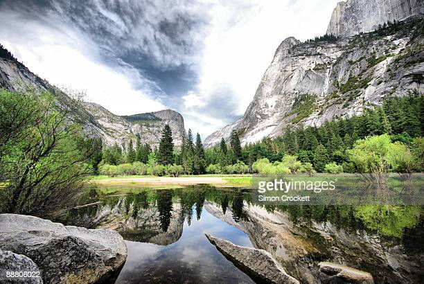 mirror lake, yosemite - mirror lake stock pictures, royalty-free photos & images