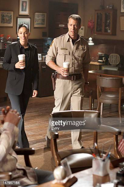 EUREKA Mirror Mirror Episode 5012 Pictured Erica Cerra as Jo Lupo Colin Ferguson as Jack Carter