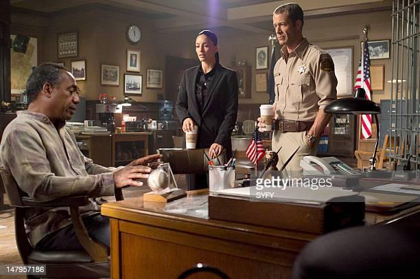 EUREKA Mirror Mirror Episode 5012 Pictured Joe Morton as Henry Deacon Erica Cerra as Jo Lupo Colin Ferguson as Jack Carter