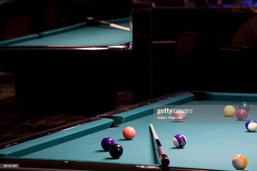Admirable Mirror Reflection Of Pool Table Stock Photo Getty Images Download Free Architecture Designs Viewormadebymaigaardcom