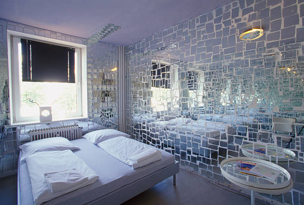 A Mirrored Bedroom in the Kukuun Arthotel