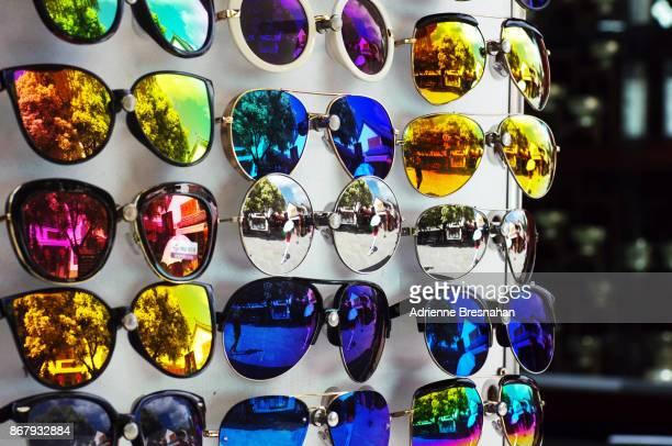 Mirrored Sunglasses on Retail Display