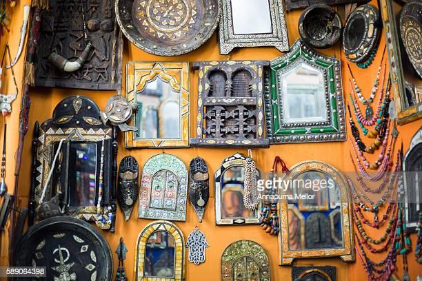 Mirrors in a shop in Essaouria, Morocco