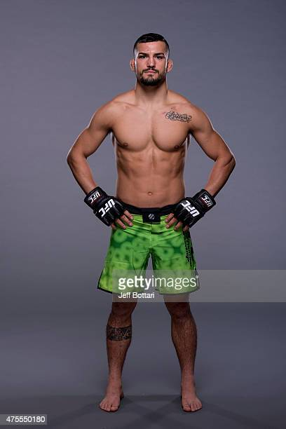 Mirsad Bektic poses for a portrait during a UFC photo session at the Red Rock Casino on June 1 2015 in Las Vegas Nevada