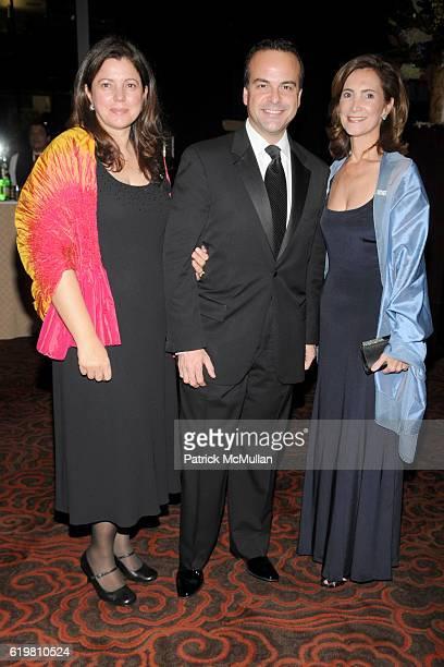 Mirta Ojito Jorge Plasencia and Frances SevillaSacasa attend CASITA MARIA hosts FIESTA 2008 at The Mandarin Oriental on October 14 2008 in New York...