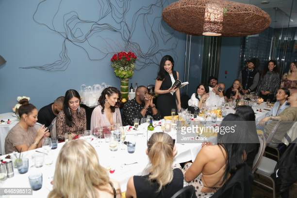 Mirtha Michelle reads poems from her book 'Letters To Women Like Me' during Actress Anabelle Acosta 30th Birthday Party at The Esterel Restuarant on...
