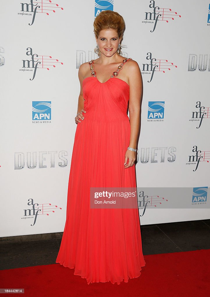 Mirusia poses at the 4th Annual Duets Gala concert at the Capitol Theatre on October 14, 2013 in Sydney, Australia.