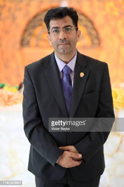 Mirza Dinnayl tours the Ziarat Yazidi Temple during the 2019 Aurora Forum on October 20 2019 in Yerevan Armenia