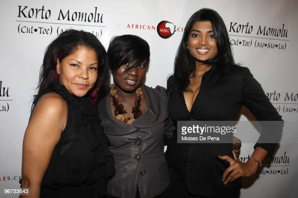 Misa Hilton Korto Momolu and Anchal Joseph attends Korto Momolu Fall 2010 during MercedesBenz Fashion Week at The Union Square Ballroom on February...