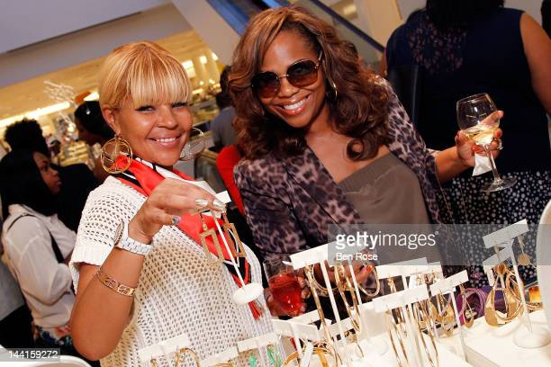 Misa Hylton and a gues attend the Simone I Smith Trunk Show at Neiman Marcus Atlanta on May 10 2012 in Atlanta Georgia