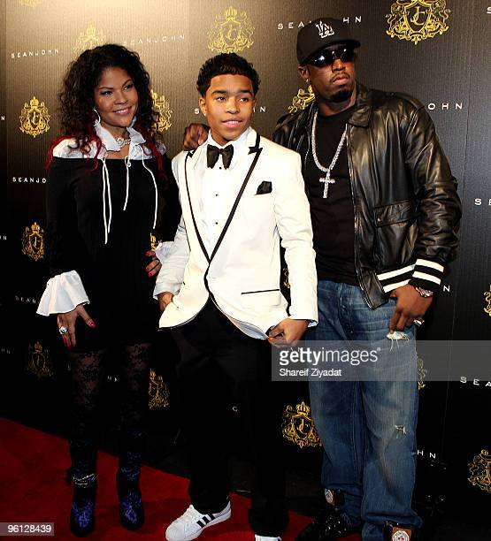 Misa Hylton and Justin Combs attend Justin Dior Comb's 16th birthday party at M2 Ultra Lounge on January 23 2010 in New York City
