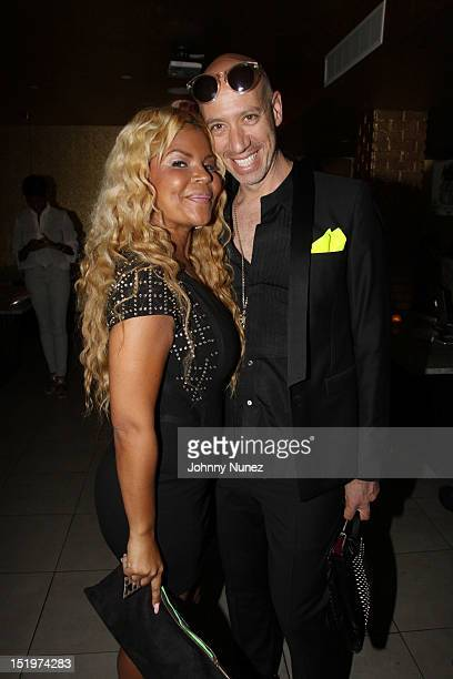 Misa Hylton and Robert Verdi attend The Misa Hylton Fashion Academy Presents A Toast To Today's Top Stylists at Kristalbelli on September 13 2012 in...