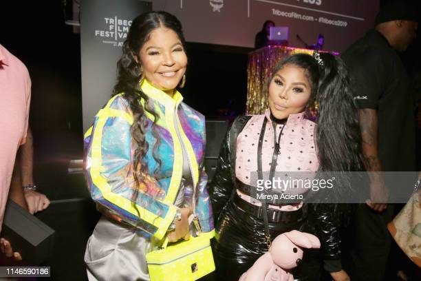 Misa Hylton Brim and Lil' Kim attend the premiere of The Remix Hip Hop x Fashion at Tribeca Film Festival at Spring Studios on May 02 2019 in New...