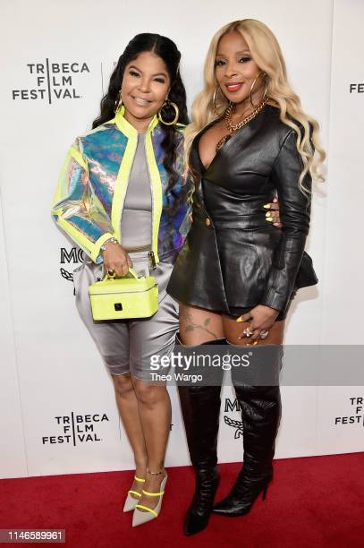 Misa Hylton Brim and Mary J Blige attend the premiere of The Remix Hip Hop x Fashion at Tribeca Film Festival at Spring Studios on May 02 2019 in New...