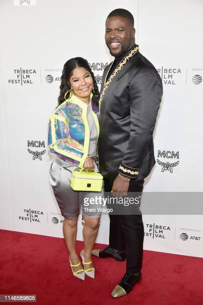 "Misa Hylton Brim and Winston Duke attend the premiere of ""The Remix: Hip Hop x Fashion"" at Tribeca Film Festival at Spring Studios on May 02, 2019 in..."