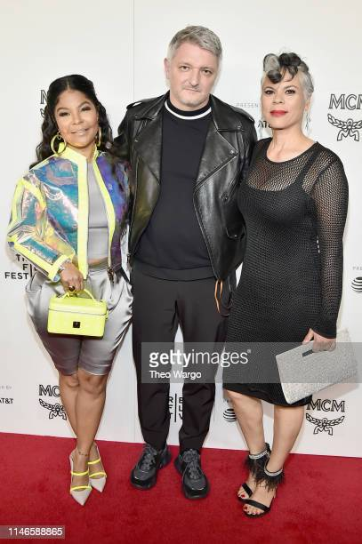 Misa Hylton Brim Dirk Schoenberger and April Walker attend the premiere of The Remix Hip Hop x Fashion at Tribeca Film Festival at Spring Studios on...