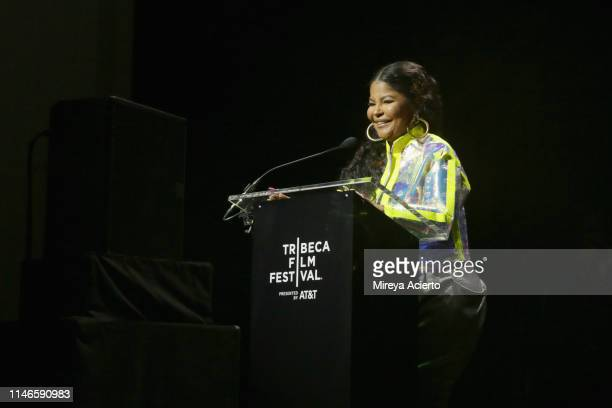 Misa Hylton Brim speaks onstage during the premiere of The Remix Hip Hop x Fashion at Tribeca Film Festival at Spring Studios on May 02 2019 in New...