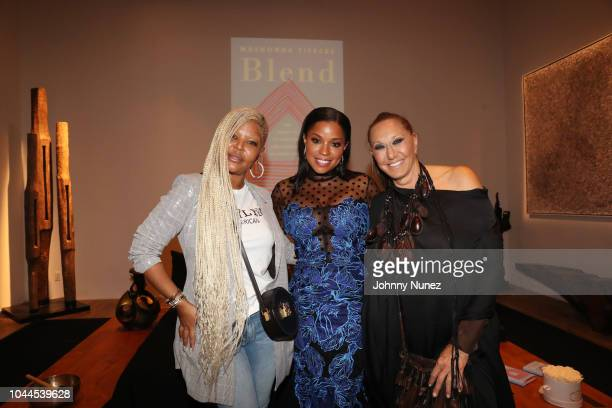 Misa Hylton Mashonda and Donna Karan attend the Blend Book Launch Party on October 1 2018 in New York City