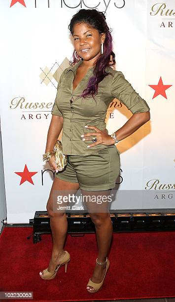 Misa HyltonBrim attends Russell Simmons' Argyleculture Fall 2010 Menswear Presentation at Amperstand Studios on August 3 2010 in New York City