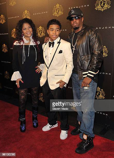 Misa HyltonBrim Justin Dior Combs and Sean 'Diddy' Combs attend Justin Dior Combs' 16th birthday party at M2 Ultra Lounge on January 23 2010 in New...