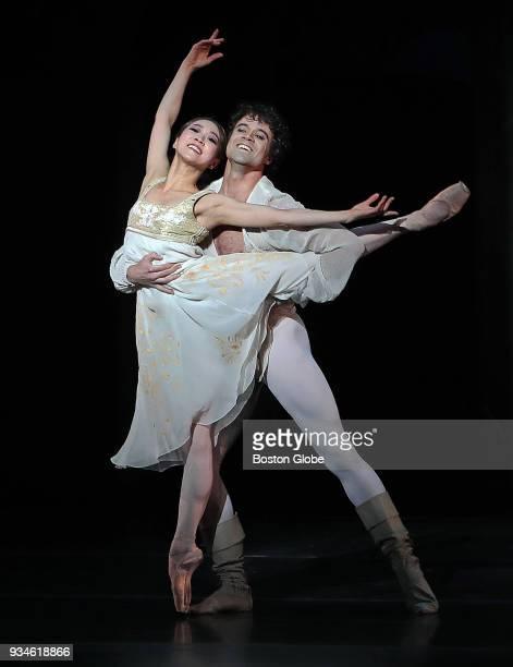 Misa Kuranaga as Juliet and Paulo Arrais as Romeo perform during the opening of John Cranko's Boston Ballet production of Romeo Juliet at the Boston...