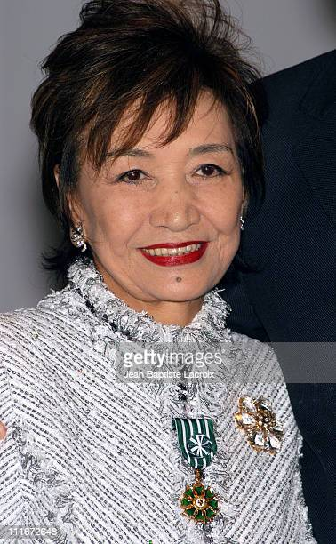 Misa Watanabe President CEO of MPAJ during MIDEM 2004 Misa Watanabe President CEO of MPAJ receives Arts and Letters Medal at Majestic Hotel in Cannes...