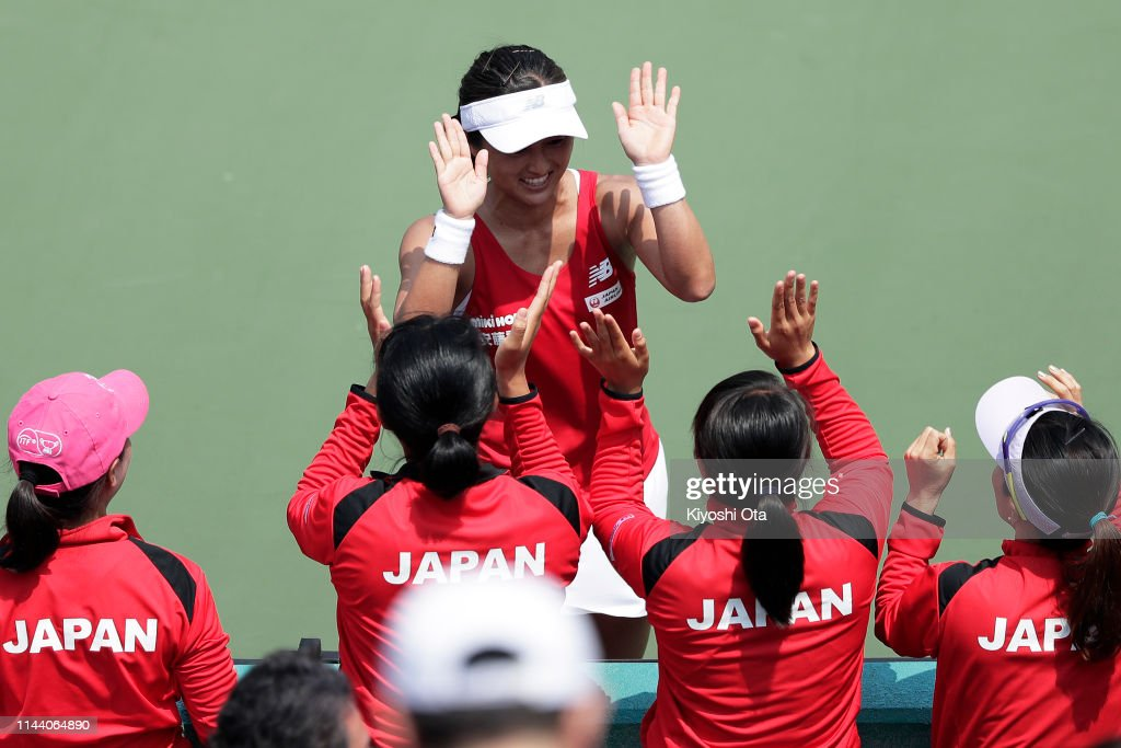 JPN: Japan v Netherlands - Fed Cup World Group II Play-Off - Day 2