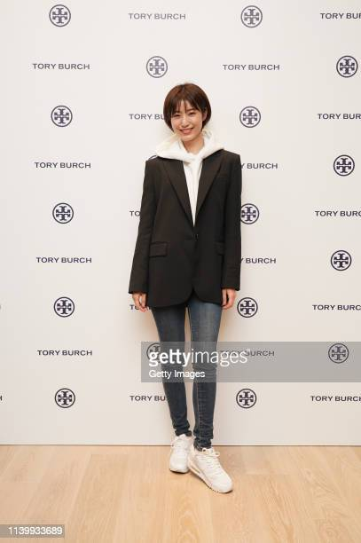 Misaki Izuoka attends the Tory Burch Ginza Boutique Opening on April 02 2019 in Tokyo Japan