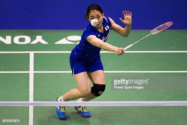 Misaki Matsutomo with partner Ayaka Takahashi of Japan in action while playing against Gabriela Stoeva and Stefani Stoeva of Bulgaria during the 2016...