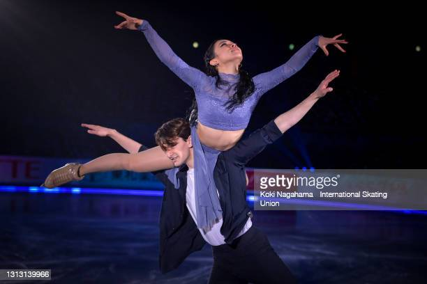 Misato Komatsubara and Tim Koleto of Japan perform during the gala exhibition of ISU World Team Trophy at Maruzen Intec Arena Osaka on April 18, 2021...