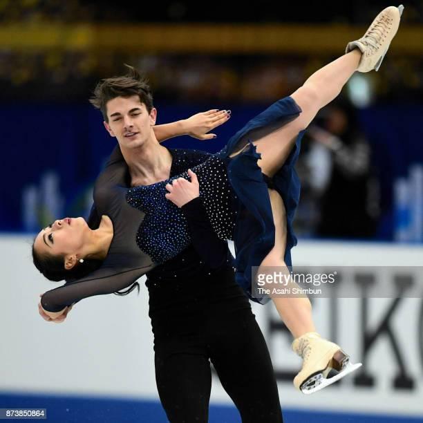 Misato Komatsubara and Timothy Koleto of Japan compete in the Ice Dance Free Dance during day three of the ISU Grand Prix of Figure Skating NHK...