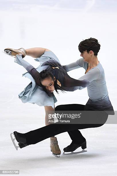 Misato Komatsubara and Timothy Koleto of the USA compete in the Ice dance free dance during the Japan Figure Skating Championships 2016 on December...