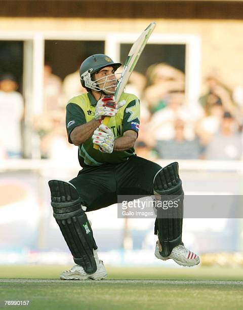 Misbah-ul-Haq of Pakistan during the final match of the ICC Twenty20 World Cup between Pakistan and India held at the Wanderers Cricket Stadium on...