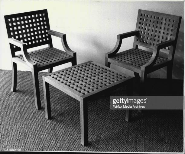 Misc - Chairs And Stools - 1980-1989. August 24, 1988. .