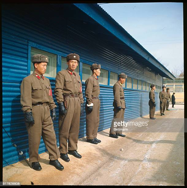 Miscellaneous photos of United Nations command troops and North Korean troops at Panmunjom Korea during Mac talks
