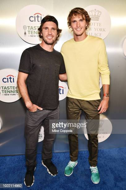 Mischa and Alexander Zverev attends the Citi Taste Of Tennis gala on August 23 2018 in New York City