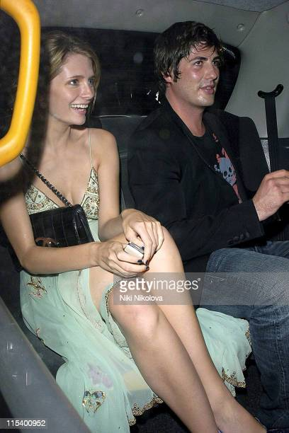 Mischa Barton and Brandon Davis during Prince of Brunei Birthday Party June 24 2005 at Frankie's Bar Grill in London Great Britain