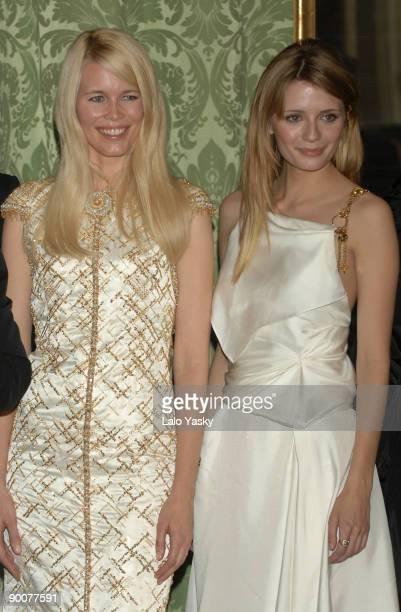 Mischa Barton and CLaudia Schiffer