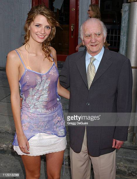 Mischa Barton and grandfather during 2004 Fox AllStar Party at 20th Century Fox Studios in Los Angeles California United States