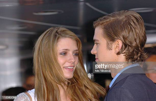 Mischa Barton and Hayden Christensen during 2005 Cannes Film Festival The Decameron Photocall at Yacht Satine in Cannes France