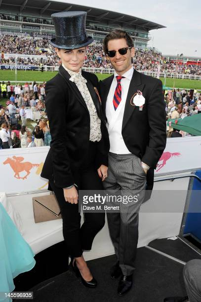 Mischa Barton and Louis Dowler attend Investec Derby Day at the Investec Derby Festival the first official event of the Queen's Diamond Jubilee...