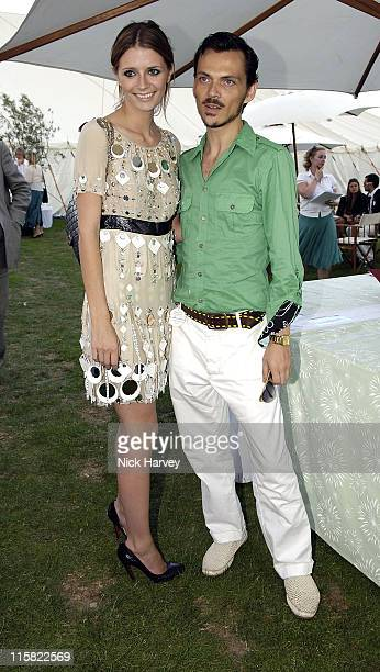 Mischa Barton and Matthew Williamson at the Cartier International Polo, Guards Polo Club, Windsor Great Park on 30th July 2006